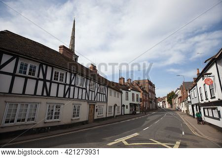 Views Of Old Buildings On The High Street In Wallingford, Oxfordshire In The Uk, Taken On The 31st M