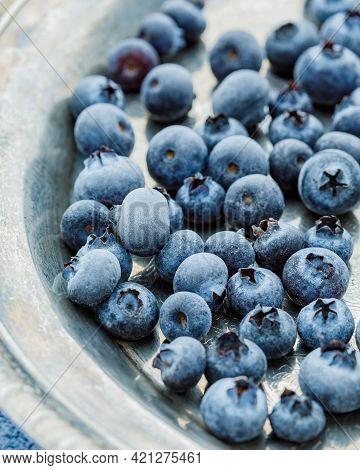 Still Life With Frozen Berries. Frozen Berries Macrophotography