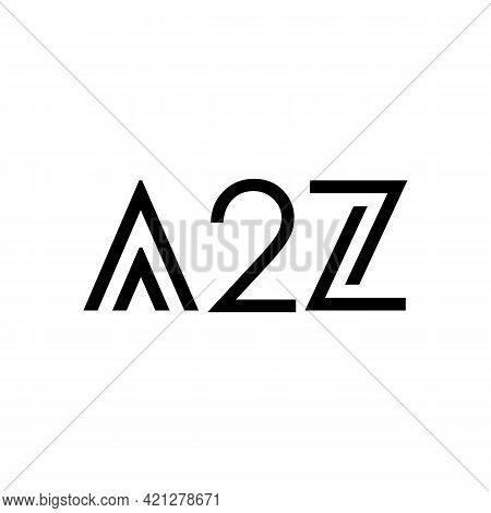Illustration Vector Graphic Of A2z Letter Logo