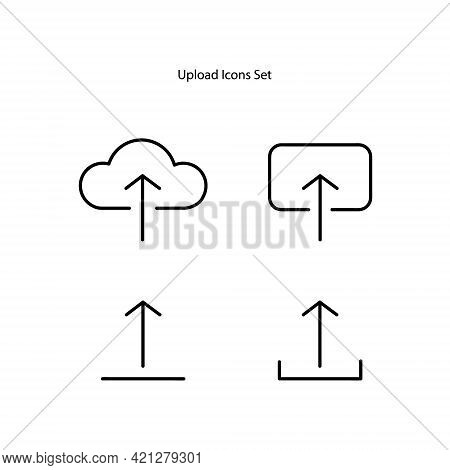 Upload Icons Isolated On White Background. Upload Icon Thin Line Outline Linear Upload Symbol For Lo