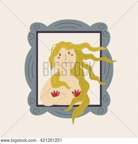 Cute Interpretation Of Picture The Birth Of Venus By Sandro Botticelli.