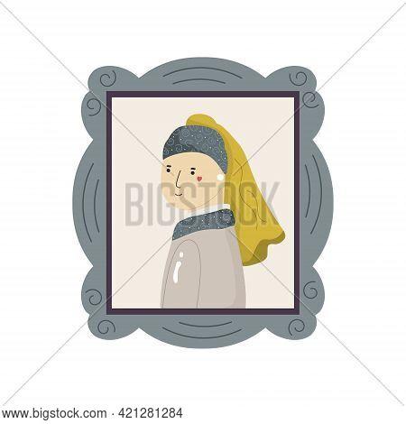 Cute Interpretation Of Girl With Pearl Earing By Vermeer