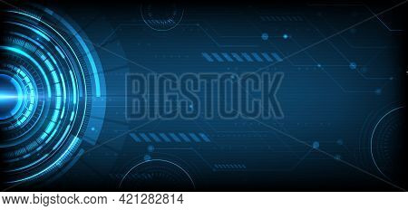Abstract Digital Technology Ui Futuristic Hud Virtual Interface Elements Sci- Fi Modern User Motion