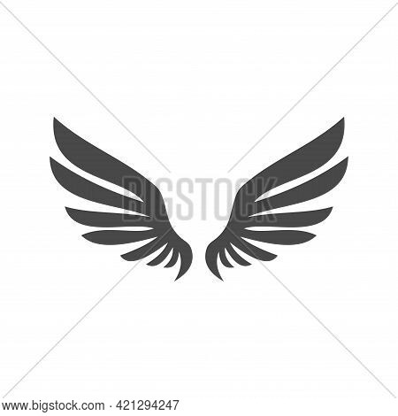 Wing Icon Vector, Wing Logo Company, Icon Wing Flying, Eagle Wing Brand And Logotype Wing Bird Illus