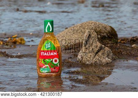 Bottle with Italian Dressing from Wish Bone