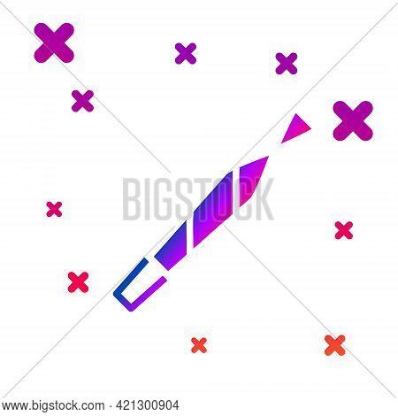 Color Marijuana Joint, Spliff Icon Isolated On White Background. Cigarette With Drug, Marijuana Ciga