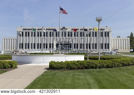 Indianapolis - Circa May 2021: Indianapolis Motor Speedway Hall Of Fame Building And Museum. Ims Is