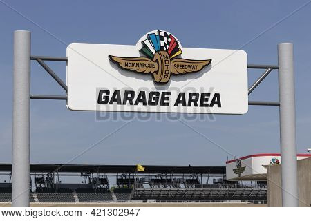 Indianapolis - Circa May 2021: Indianapolis Motor Speedway Garage Area. Ims Is Preparing For The Ind