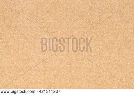 Paper Cardboard Background. Natural Carton Sheet. Kraft Cardboard Texture. Brown Paperboard, Top Vie