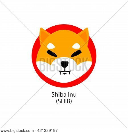 Shiba Inu Decentralized Blockchain Internet-of-things Payments Cryptocurrency Vector Logo
