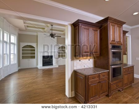 Luxury Home Interior Kitchen Cabinets And Living Room