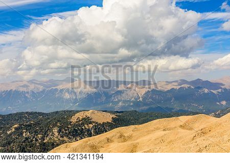 View On Taurus Mountains From Summit Of Tahtali Mountain