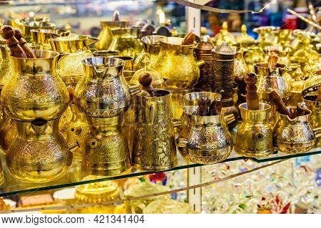 Colorful Souvenir Utensil For Sale At Bazaar In Turkey