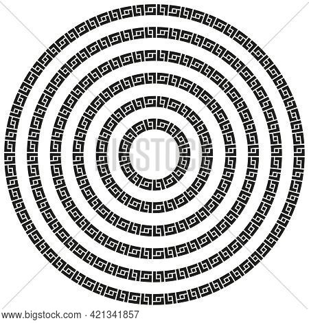 Mexican Aztec Round Circular Border Frame In A Range Of Sizes.