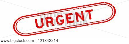 Grunge Red Urgent Word Rubber Seal Stamp On White Background