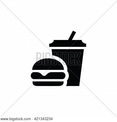 Take Away Hamburger Menu Icon. Outline Take Away Hamburger Menu Vector Icon For Web Design Isolated