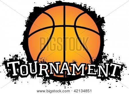 Basketball Tournament Vector Graphic