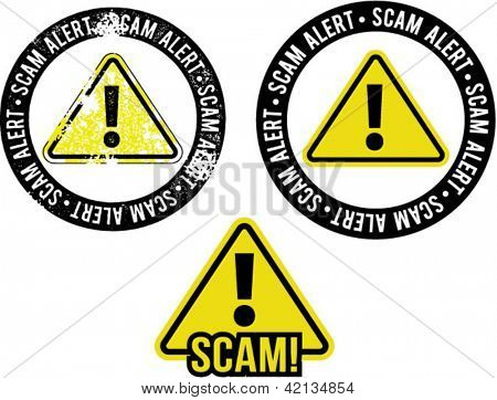Scam Alert Warning Symbol