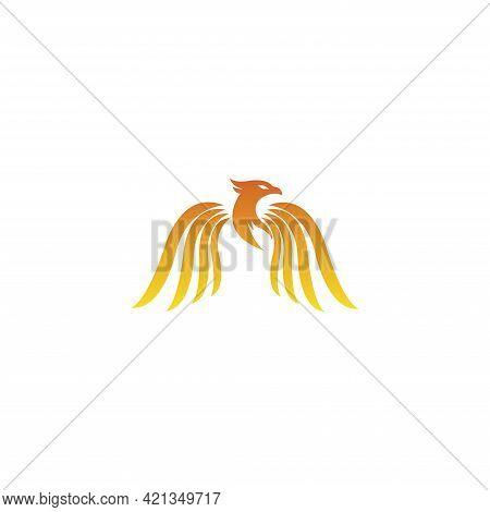 Phoenix Logo Flying Bird Abstract Design Vector Template. Eagle Eagle Soaring Eagle Concept Icon Log