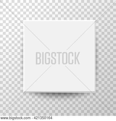 White Square Box Top View. Open Gift Boxes. Container Mockup. Realistic Paper Shoebox. Empty Carton