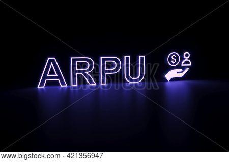 Arpu Neon Concept Self Illumination Background 3d Illustration