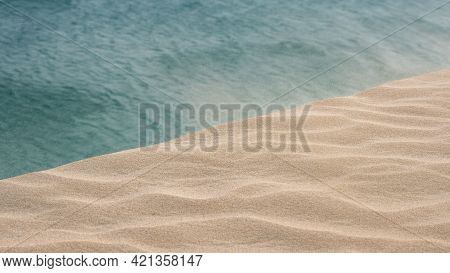 Windy Day On The Sand Dunes In Qatar. Selective Focus