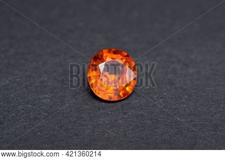 Genuine Natural Mined Loose Oval Faceted Mandarin Orange Bright Deep Saturated Color Spessartine Gar