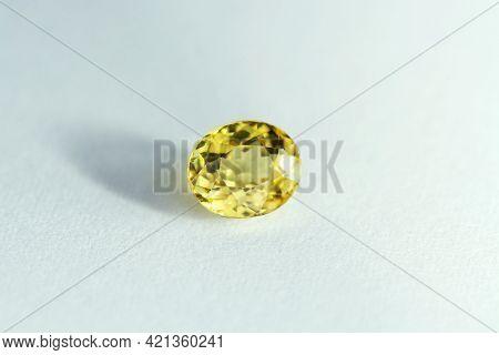 Genuine Natural Unheated Lemon Greenish Yellow Color Clean Mali Garnet Loose Faceted Gemstone. Small