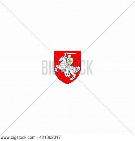 The Chase Is The Historical Coat Of Arms Of Modern Belarus And The Grand Duchy Of Lithuania. Flat Ve