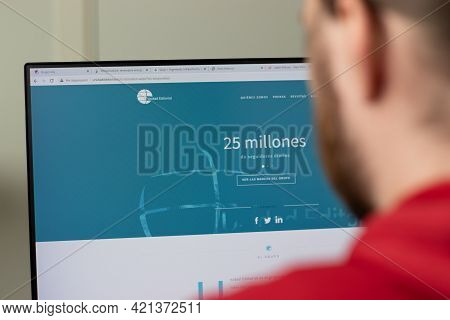 New York, Usa - 1 May 2021: Unidad Editorial Company Website With Logo On Screen, Illustrative Edito