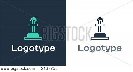 Logotype Soldier Grave Icon Isolated On White Background. Tomb Of The Unknown Soldier. Logo Design T