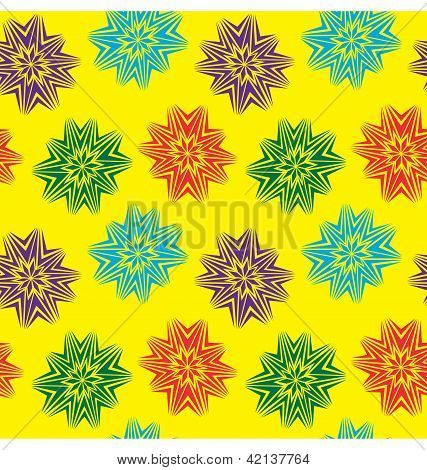 Star Burst Seamless Pattern
