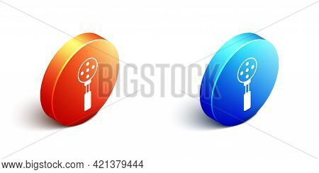Isometric Spatula Icon Isolated On White Background. Kitchen Spatula Icon. Bbq Spatula Sign. Barbecu