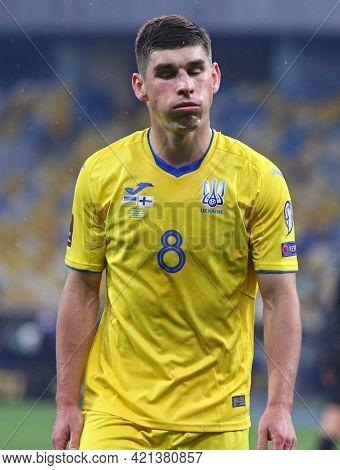 Kyiv, Ukraine - March 28, 2021: Portrait Of Ruslan Malinovskyi Of Ukraine Seen During The Fifa World