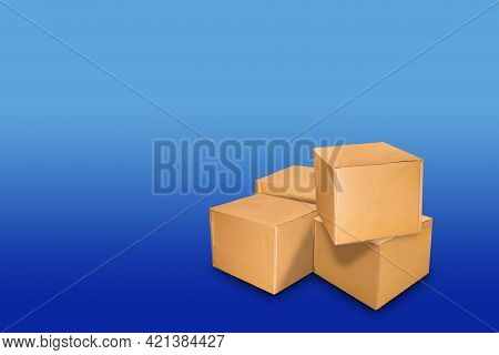 Crate Parcel Box Post For Delivery Shipping, Cardboard Paper Carton Box Brown For Packaging Delivery