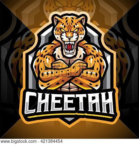 Cheetah Esport Mascot Logo Design With Text