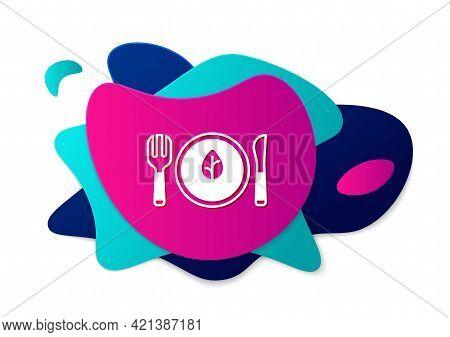 Color Vegan Food Diet Icon Isolated Color Background. Organic, Bio, Eco Symbol. Vegan, No Meat, Lact