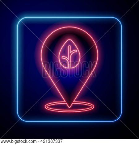 Glowing Neon Vegan Food Diet Icon Isolated Glowing Neon Background. Organic, Bio, Eco Symbol. Vegan,