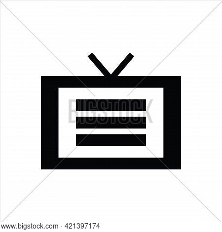 Tv Icon Isolated On White Background From Communication And Media Collection. Tv Icon Thin Line Outl