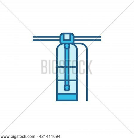 Vector Water Purification System Concept Colored Icon