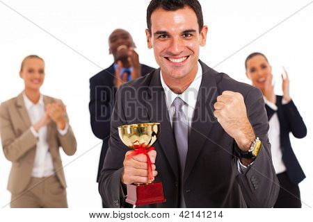 smart business team winning a competition