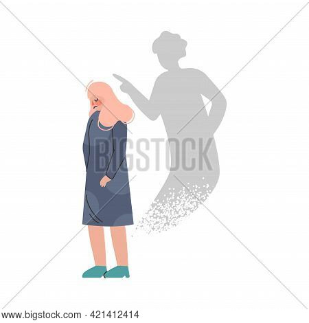 Girl With Bipolar Disorder, Split Personality, Female Person Suffering From Psychological Disease Ca