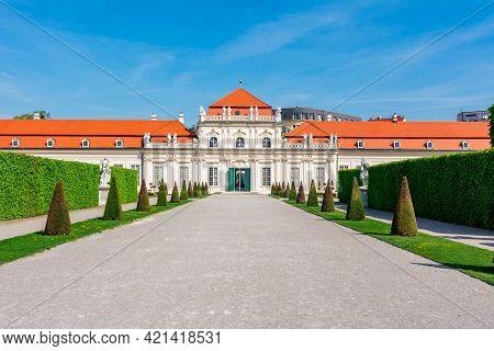 Lower Belvedere Palace And Gardens In Vienna, Austria
