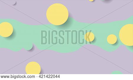 Colorful abstract circles and waves minimal contrast background