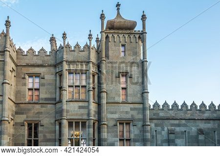 Alupka, Crimea - September, 08, 2020: Scenic View Of Vorontsov Palace In Crimea, Russia. It Is One O