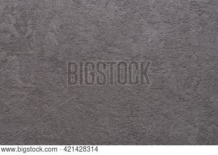 Texture Of Rough Plastered Gray Wall With Scratches. Surface Of Rough Concrete Scratched Stucco. Abs