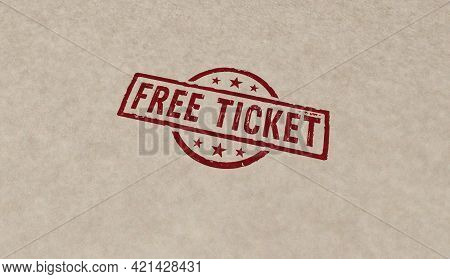 Free Ticket Stamp And Stamping