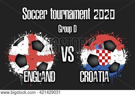 Soccer Game England Vs Croatia