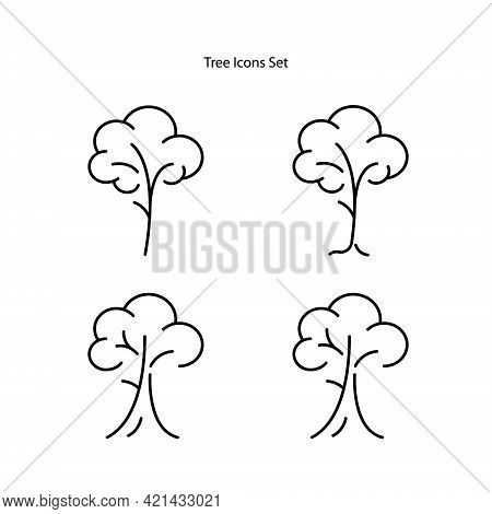 Tree. Tree Symbol Vector. Tree Sign. Tree Logo Icon. Tree Leaves Vector Logo Design Template Illustr