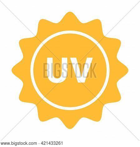 Uv Radiation Icon Vector Solar Ultraviolet Light Symbol For Graphic Design, Logo, Web Site, Social M